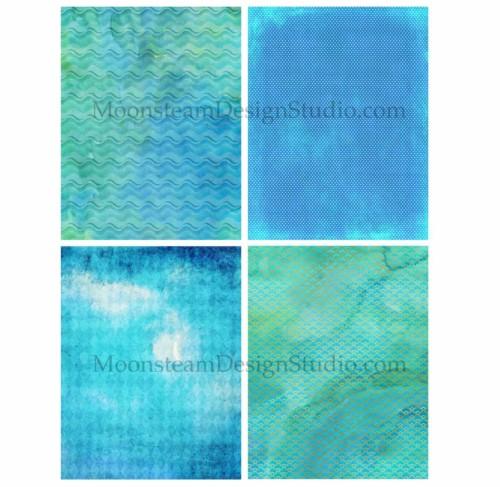 Deep Dive Watercolor Digital Papers - detail 3