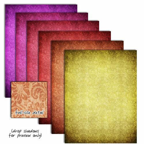 Color Basics Damask Digital Papers - detail 2