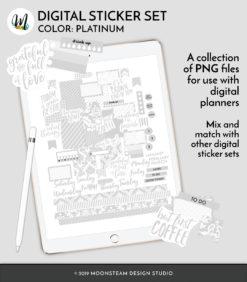 Platinum Digital Planner Stickers by Moonsteam Design Studio