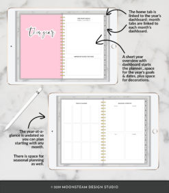 Simple Digital Planner for iPad by Moonsteam Design Studio