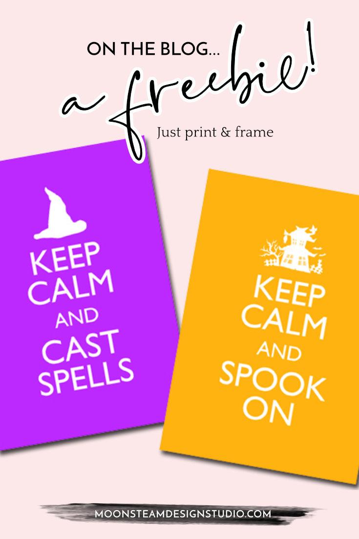 Halloween Keep Calm Freebie by Moonsteam Design Studio