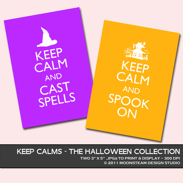 Halloween Keep Calms by Moonsteam Design Studio