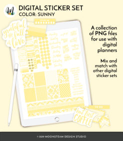 Sunny Digital Planner Stickers by Moonsteam Design Studio