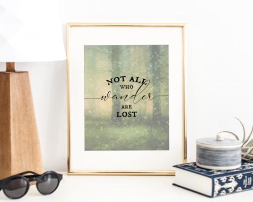 Not All Who Wander Digital Art Print by Moonsteam Design Studio