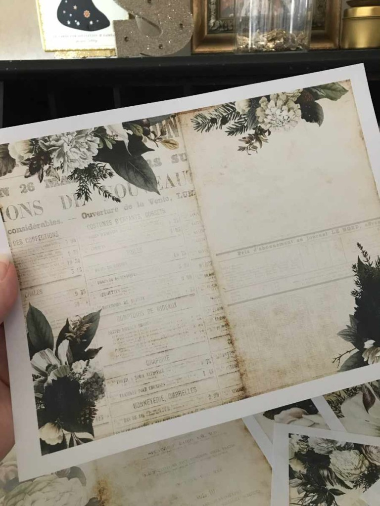 A sample page from the Moody Florals Kit by Moonsteam Design Studio
