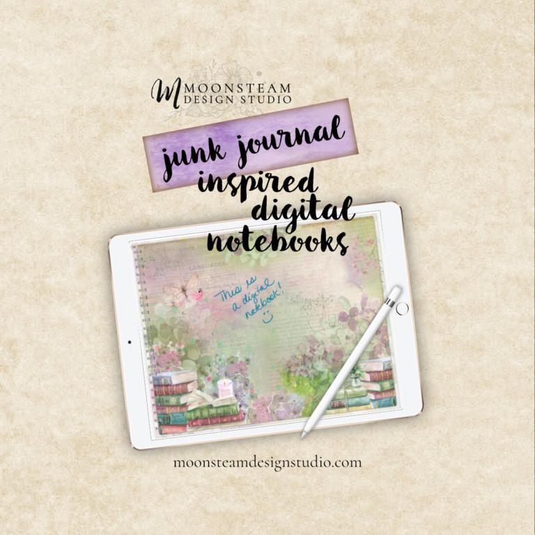 Junk Journal Inspired Digital Notebooks!