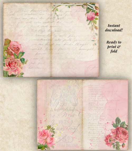 Rose Romance Junk Journal Kit detail 2