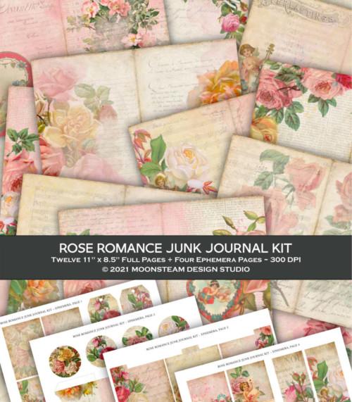 Rose Romance Junk Journal Kit by Moonsteam Design Studio