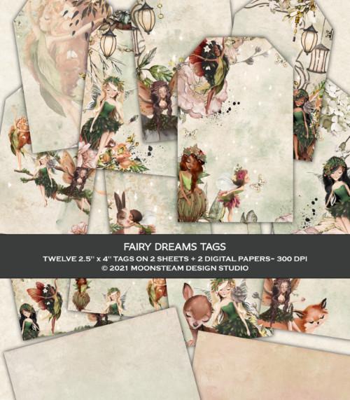 Fairy Dreams Printable Tags by Moonsteam Design Studio