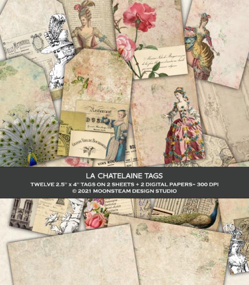 La Chatelaine Printable Tags by Moonsteam Design Studio