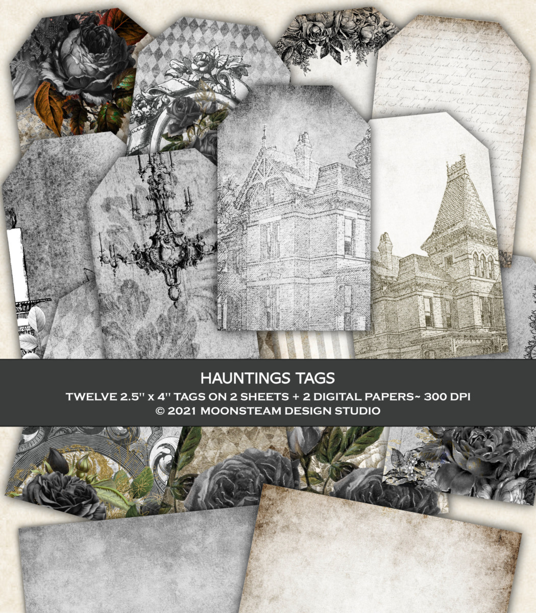 Hauntings Printable Tags by Moonsteam Design Studio