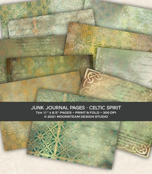 Celtic Spirit Junk Journal Pages by Moonsteam Design Studio