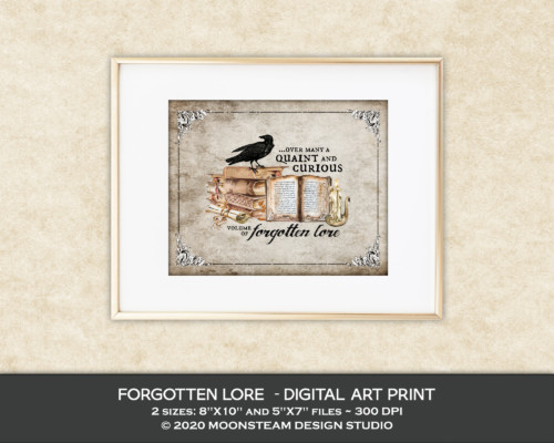 Forgotten Lore Art Print by Moonsteam Design Studio