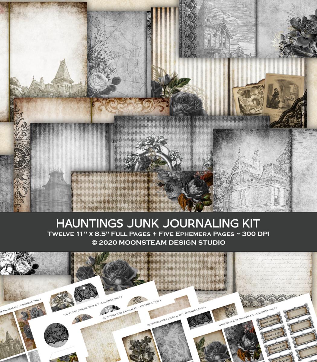 Hauntings Junk Journal Kit by Moonsteam Design Studio