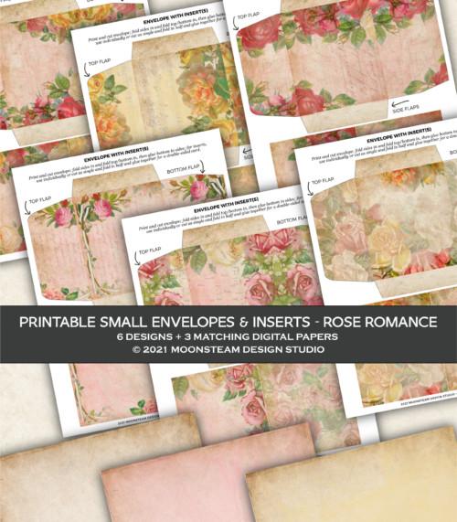 Rose Romance Printable Envelopes by Moonsteam Design Studio