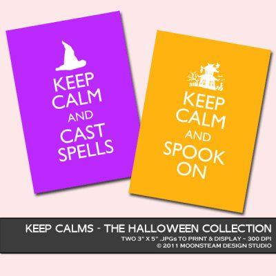 Halloween Keep Calms by Moonsteam Design Studio